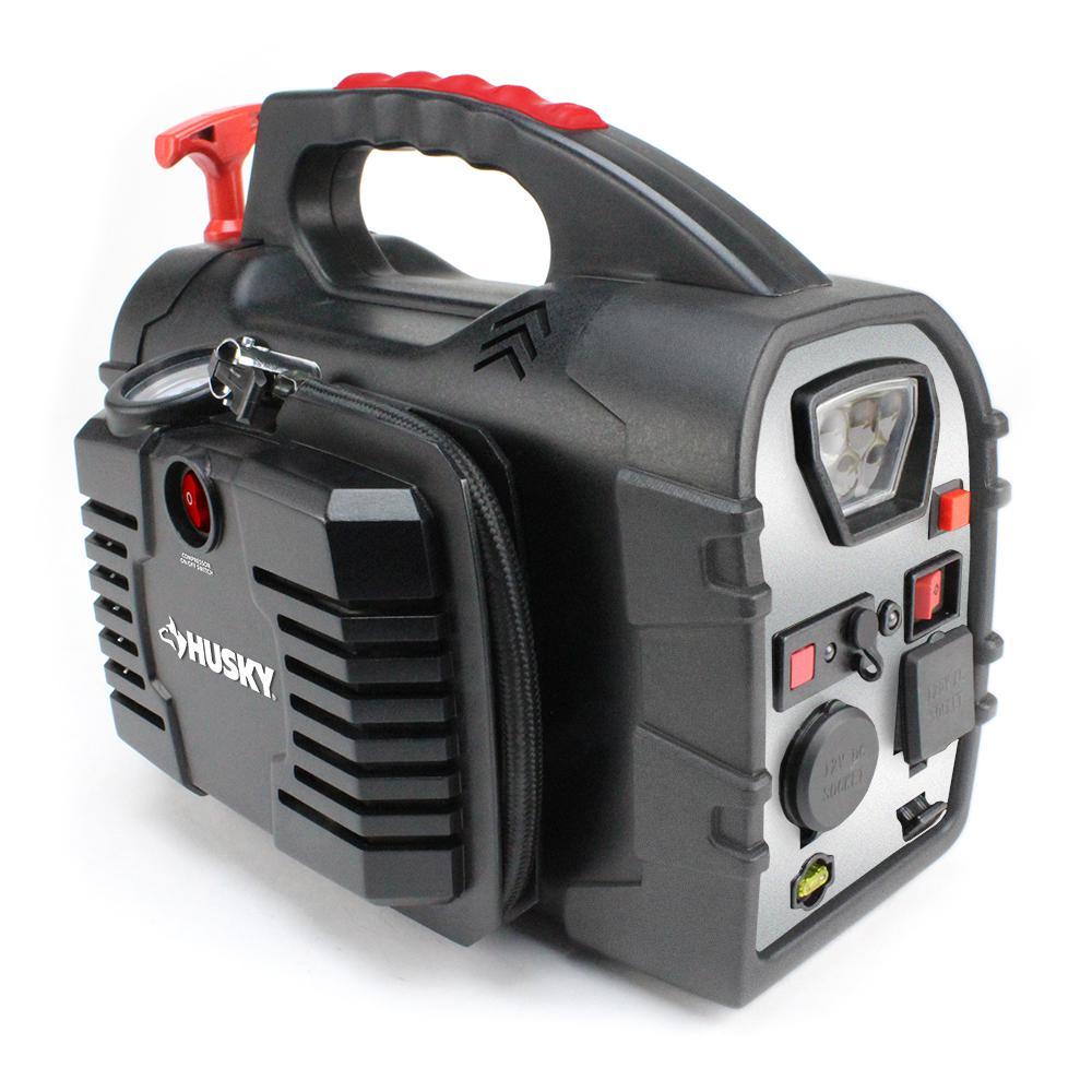 husky 8 in 1 12 volt power source jumpstarter 7481 the home depot rh homedepot com Husky HSK037 Replacement Battery Husky Jump Starter