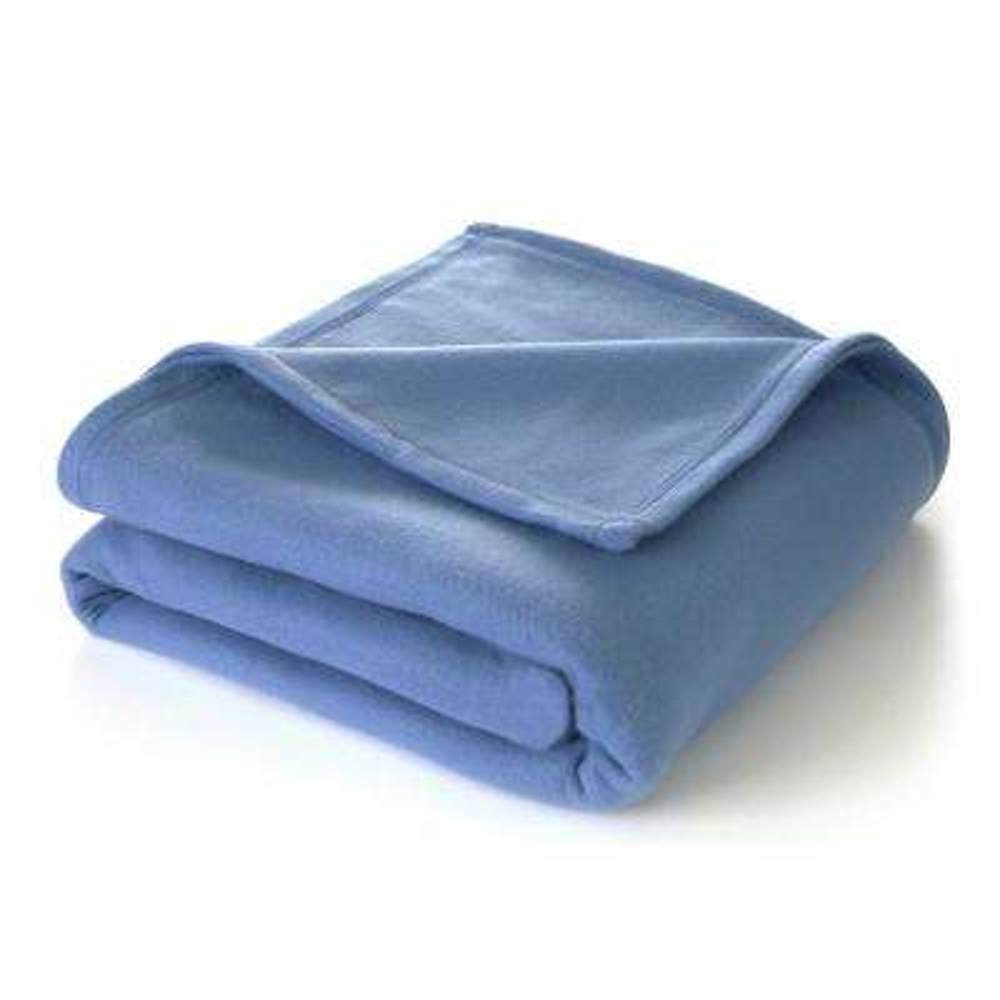 Supersoft Fleece Slate Blue Polyester Twin Blanket