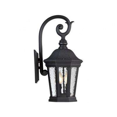 Tottington 2-Light Black Outdoor Wall Mount Lantern