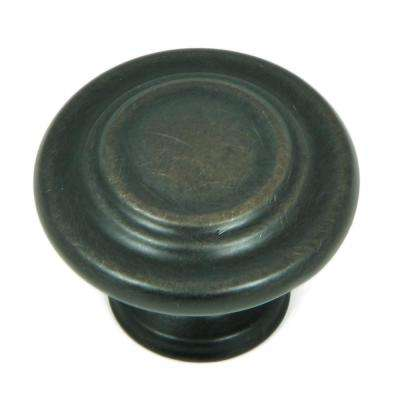 Three-Ring 1-1/4 in. Oil Rubbed Bronze Round Cabinet Knob (25-Pack)