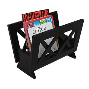 Oceanstar Contemporary Style Magazine Rack in Dark Mahogany by Oceanstar