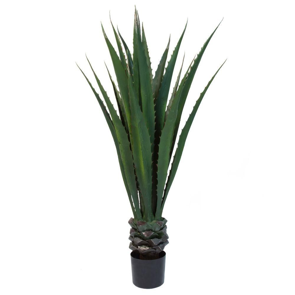 Pure garden 52 in giant agave floor plant 50 10016 the for Green floor plant