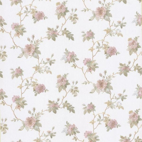 Brewster Agatha Pink Floral Wallpaper Sample 2686-56014SAM