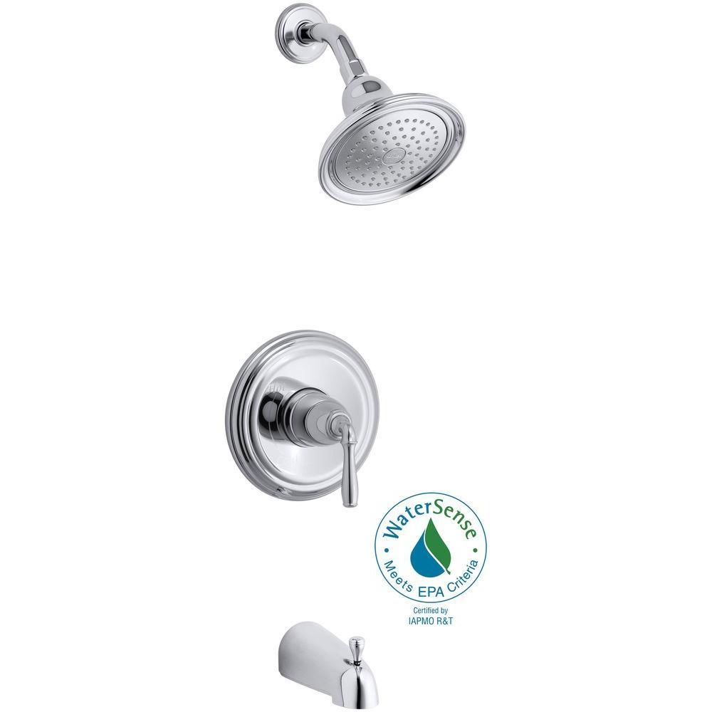 KOHLER Devonshire 1-Handle Tub and Shower Faucet Trim Kit in Polished Chrome (Valve Not Included)