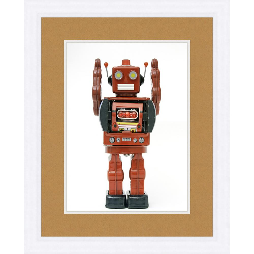 "21 in. x 17 in. ""Toy Skier"" Framed Giclee Print Wall"