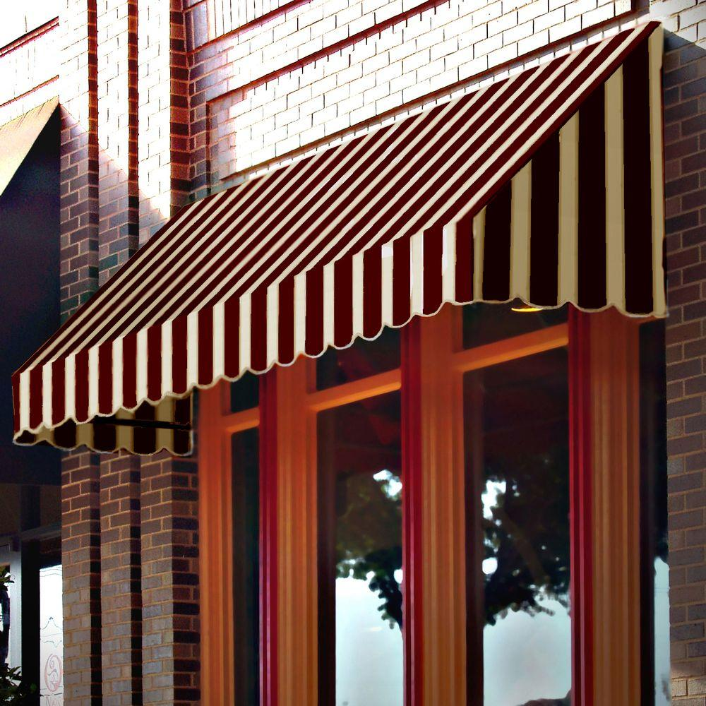 AWNTECH 6 ft. San Francisco Window Awning (31 in. H x 24 in. D) in Brown/Tan Stripe