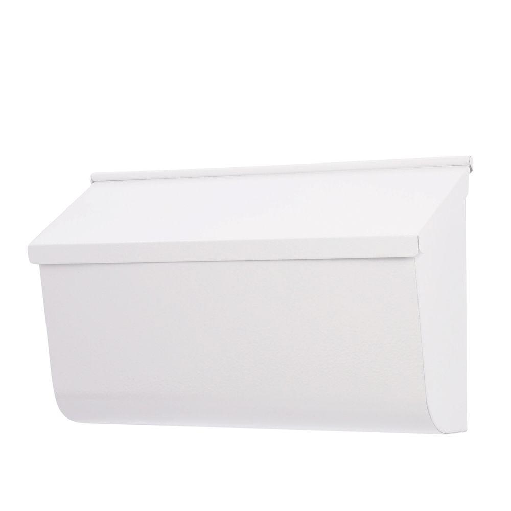 Woodlands White Wall-Mount Mailbox
