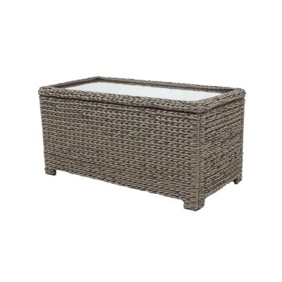 Laguna Point Brown Wicker Outdoor Patio Storage Coffee Table