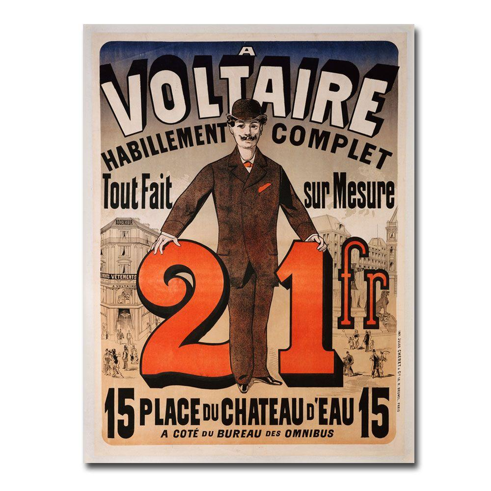 24 in. x 32 in. A Voltaire 1877 Canvas Art