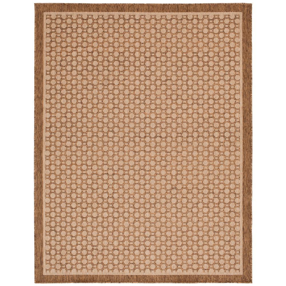 Beige and Brown 5 ft. x 7 ft. Geometric Polypropylene Indoor/Outdoor Area Rug