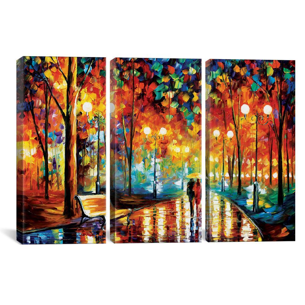 """""""Rains Rustle II"""" by Leonid Afremov Canvas Wall Art"""