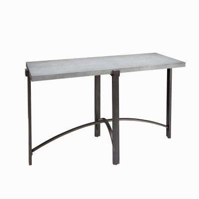 Lewis Gray Concrete Top Console Table