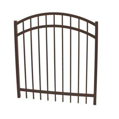 Vinnings 4 ft. W x 4 ft. H Bronze Aluminum Arched Fence Gate