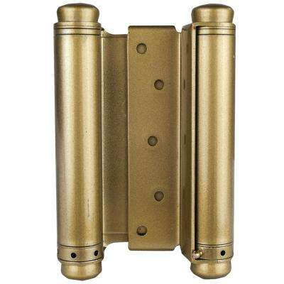 6 in. Double Acting Spring Hinge in Bright Brass (Set of 2)