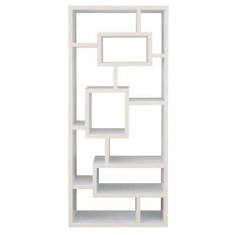 Elaina White Asymmetric Display Case