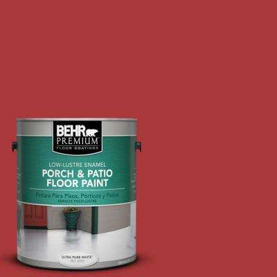 1 gal. #S-G-160 California Poppy Low-Lustre Porch and Patio Floor Paint