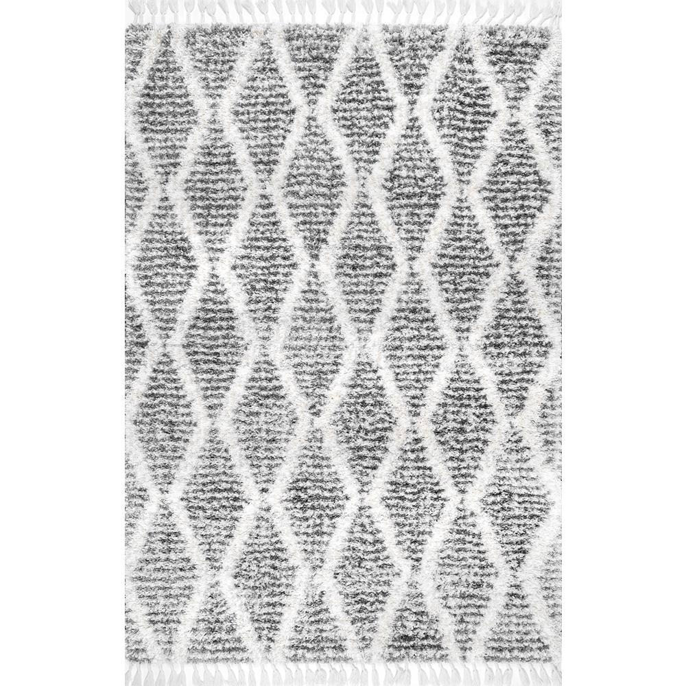Nuloom Sheree Transitional Shag Gray 9 Ft X 12 Area Rug