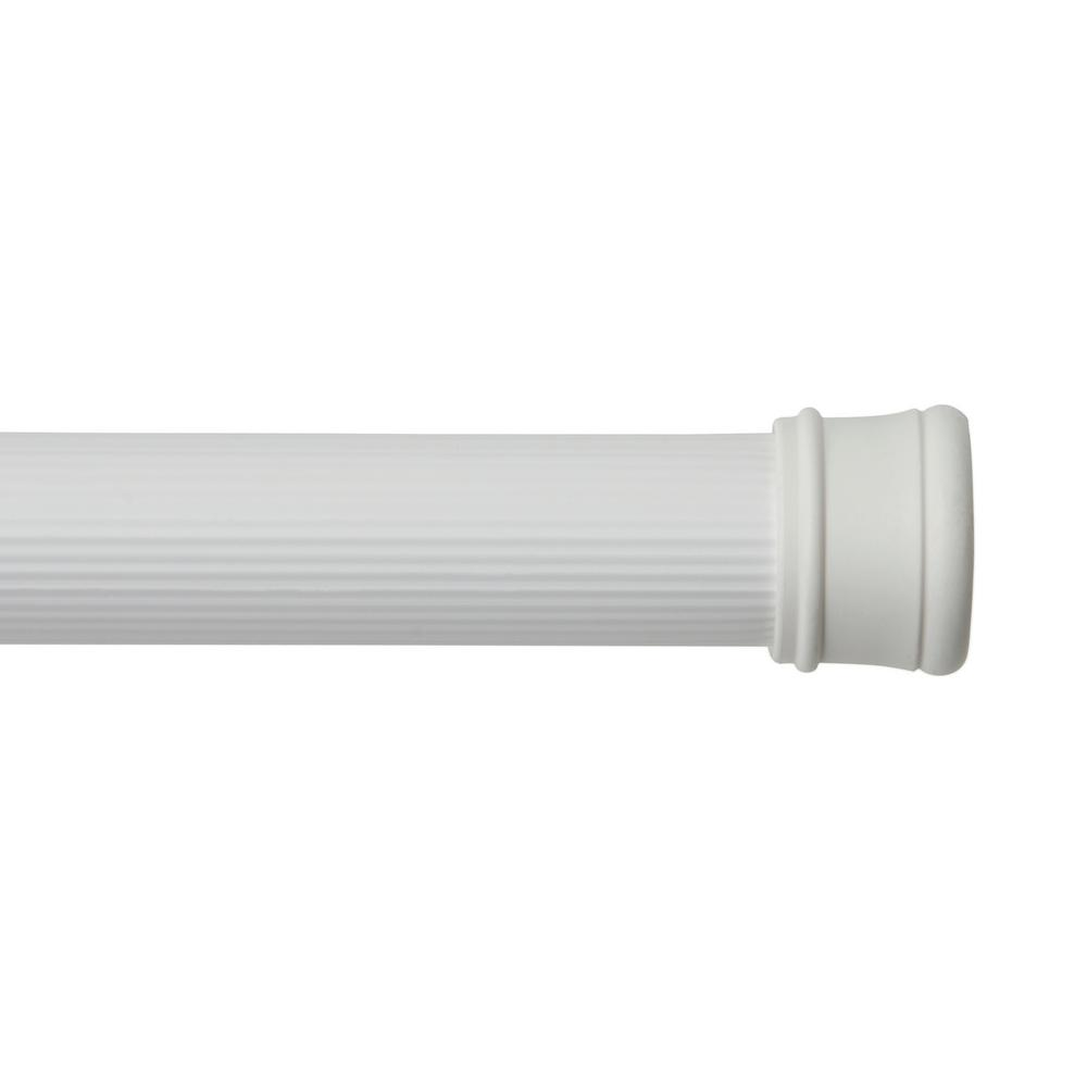 Kenney Twist & Fit 1 in., 42 in. to 72 in. Utility Tension Rod in White