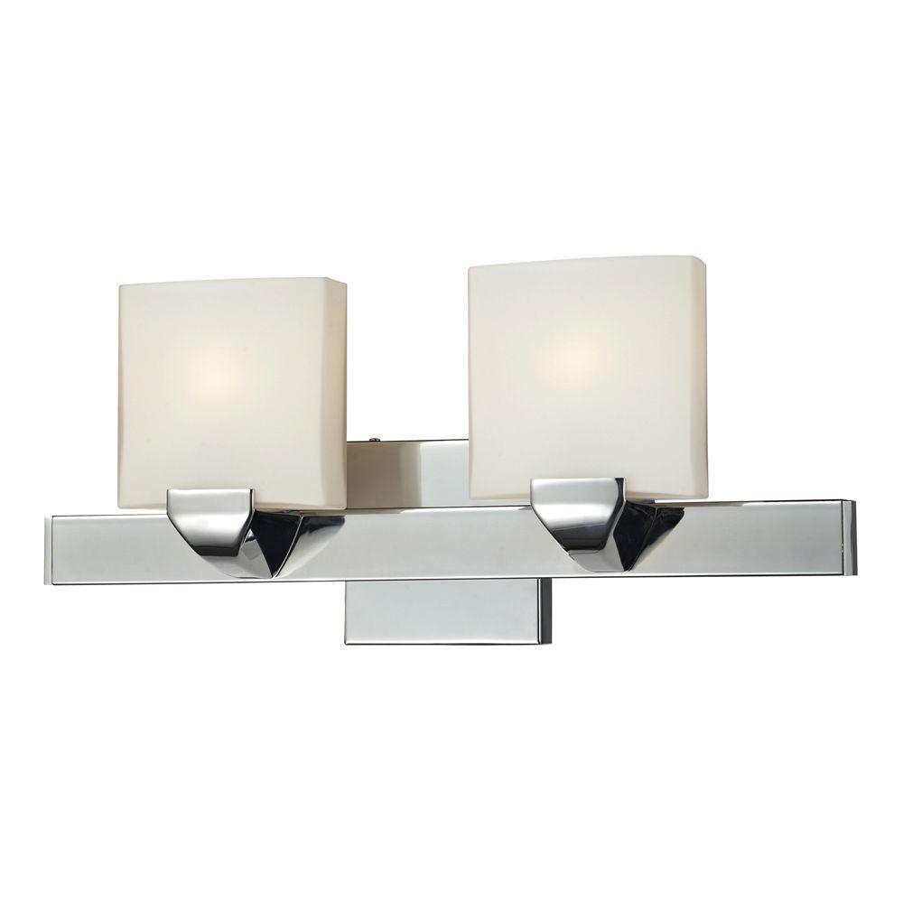 Titan Lighting 2-Light Wall Mount Chrome Bathbar-DISCONTINUED