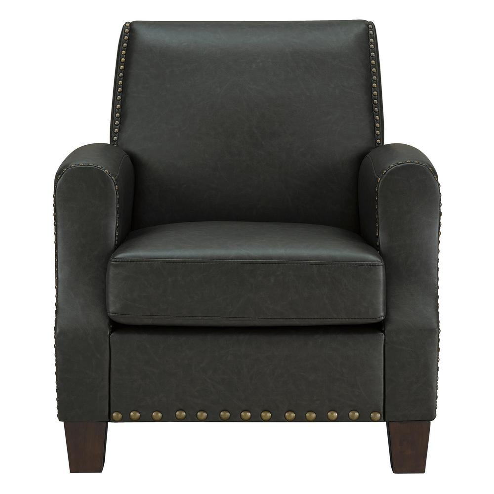 Dorel Living Raymond Dark Gray Club Chair