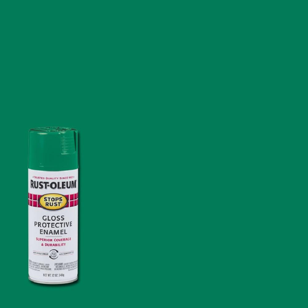 Rust-Oleum Stops Rust 12 oz. Protective Enamel Gloss Rich Jade Spray Paint