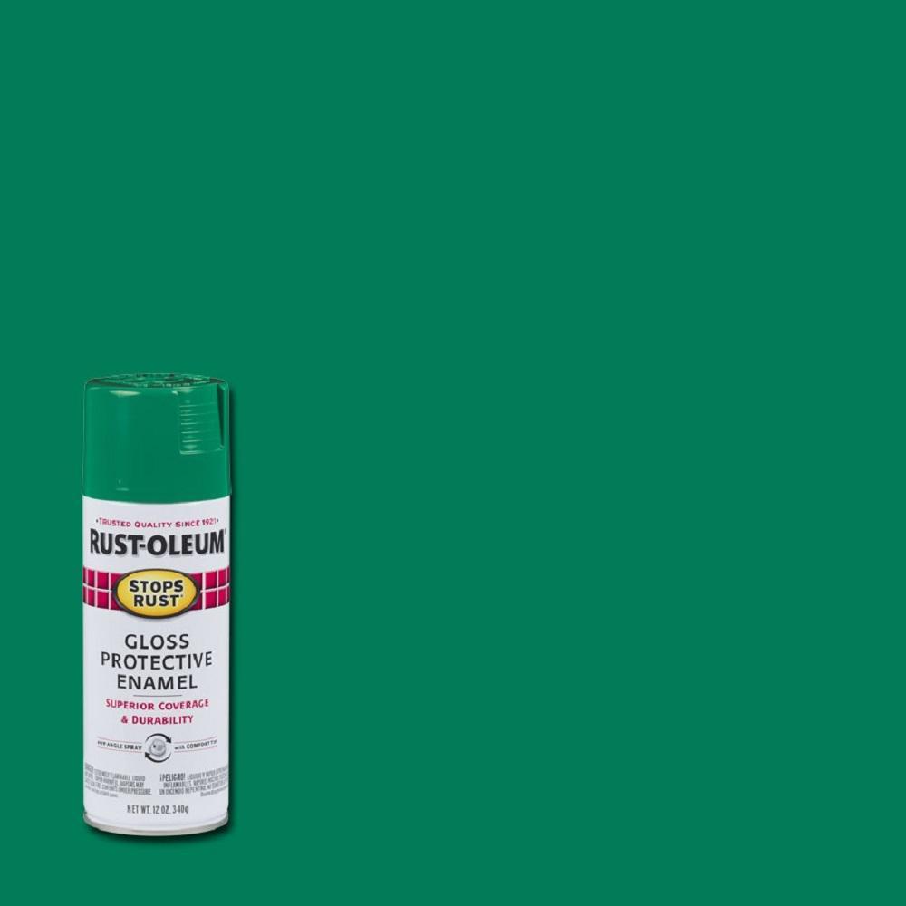 Rust-Oleum Stops Rust 12 oz. Protective Enamel Gloss Rich Jade Spray Paint