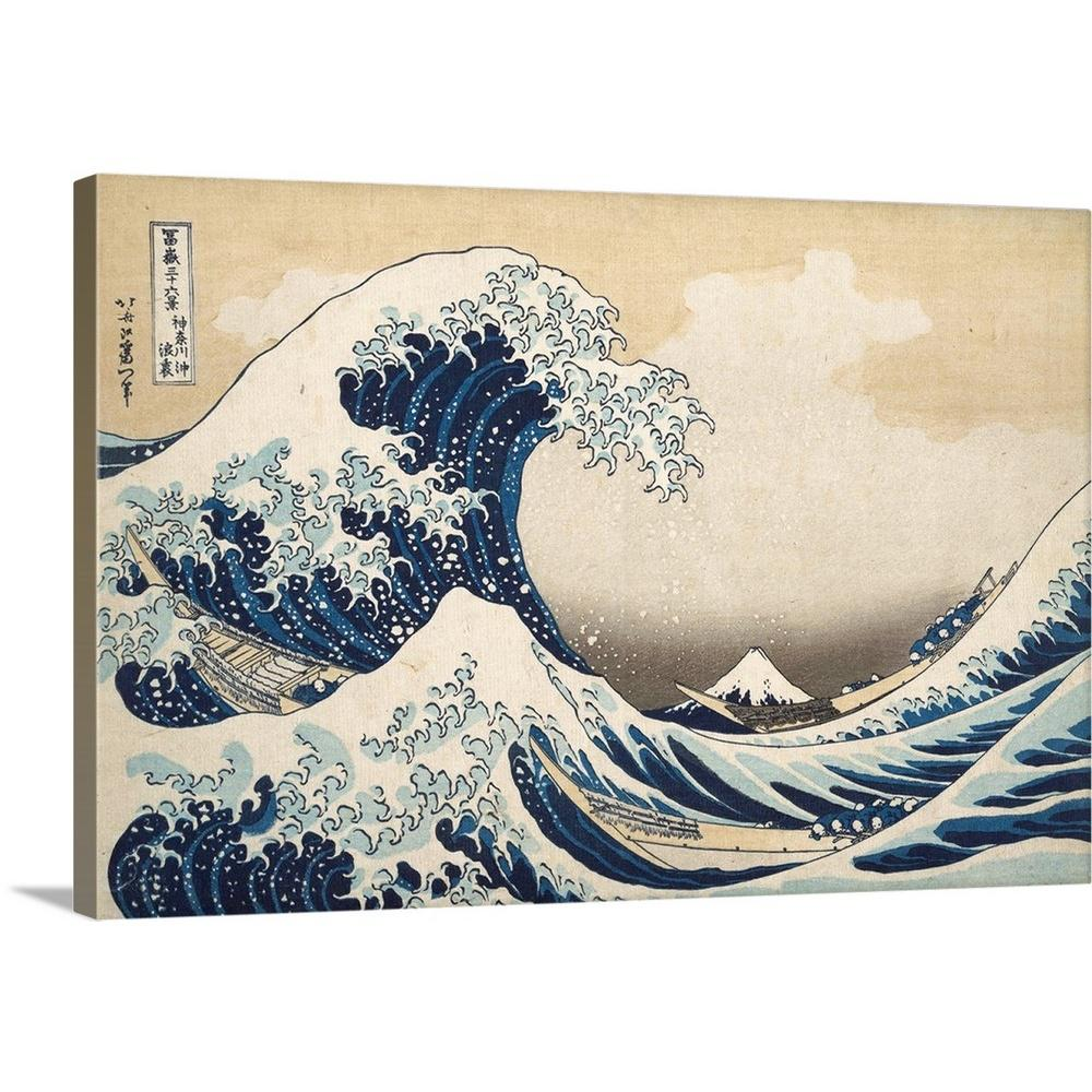 GICLEE CANVAS ART *Choose your size THE GREAT WAVE OF KANAGAWA