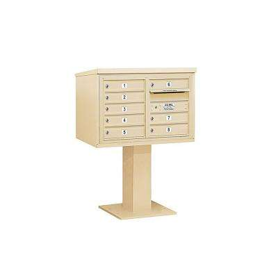 3400 Series 48-1/8 in. 5 Door High Unit Sandstone 4C Pedestal Mailbox with 8 MB1 Doors