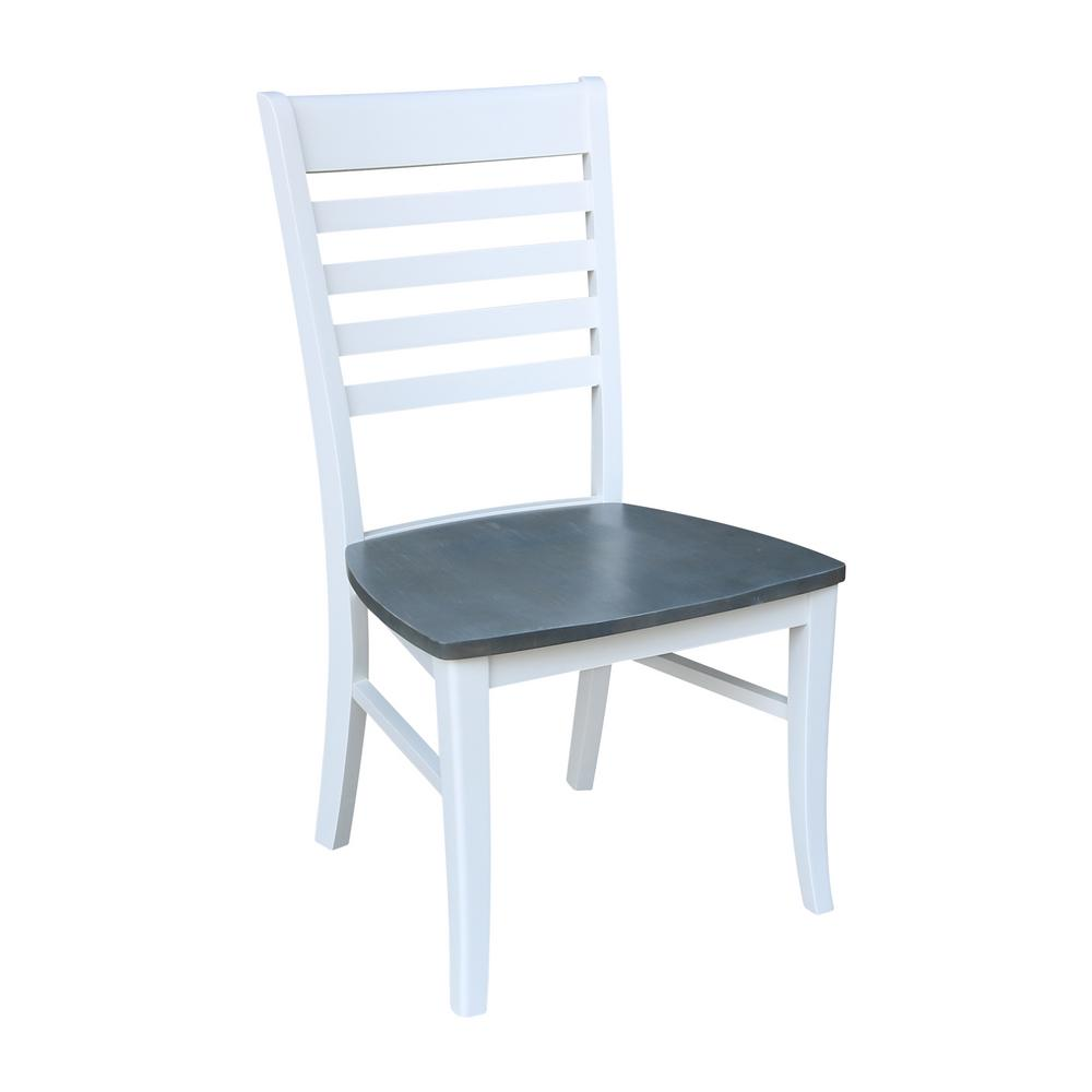 White/Gray Roma Dining Chairs (Set of 2)