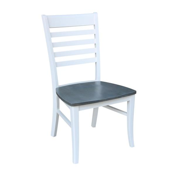 International Concepts White Gray Roma Dining Chairs Set Of 2 C05