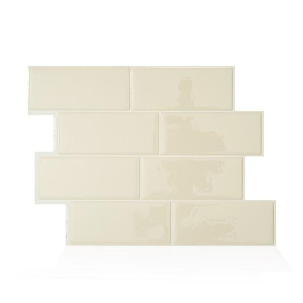 Metro Gallino 11.56 in. W x 8.38 in. H Peel and Stick Self-Adhesive Decorative Mosaic Wall Tile Backsplash (4-Pack)