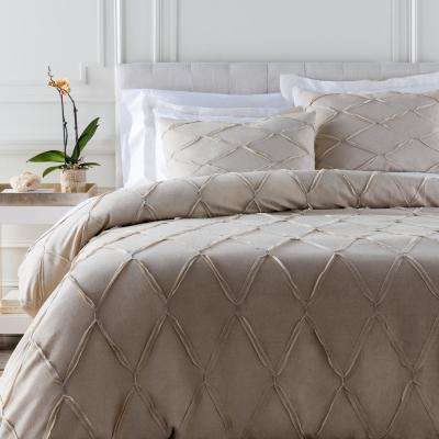 Alisa Light Gray Twin Duvet Set