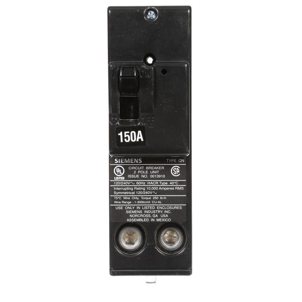 150 Amp Double-Pole 10 kA Type QN Circuit Breaker