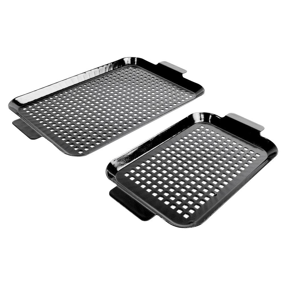 Charcoal Companion Porcelain Coated Grilling Grid Set (Set of 2)