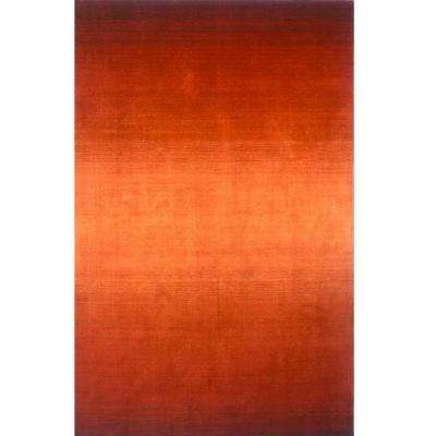 City Life Collection Paprika 8 ft. x 11 ft. Indoor Area Rug
