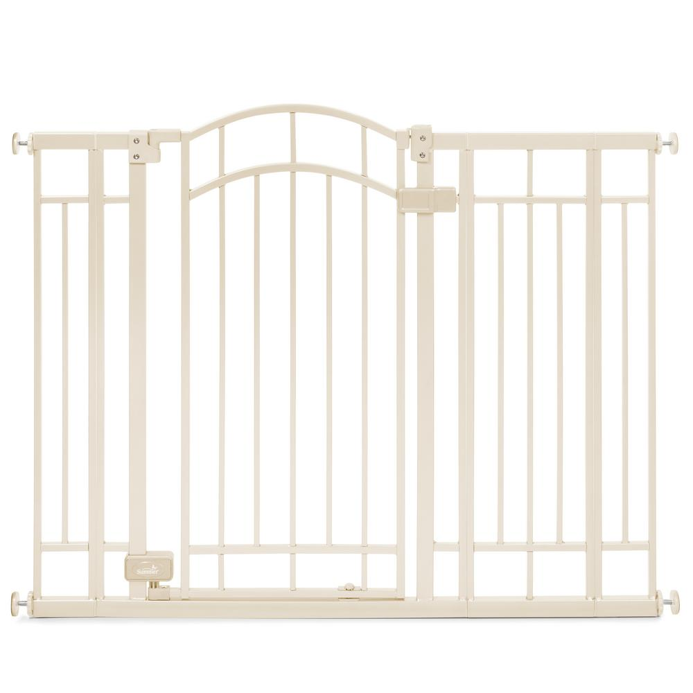 Summer Infant 36 In H Multi Use Extra Tall Walk Thru Gate In Beige