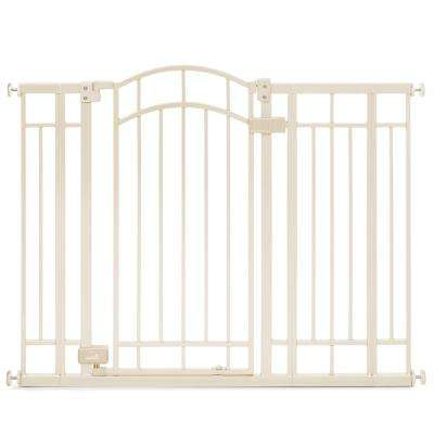 36 in. H. Multi-Use Extra Tall Walk-Thru Gate in Beige