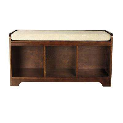 Wellman Espresso Storage Bench