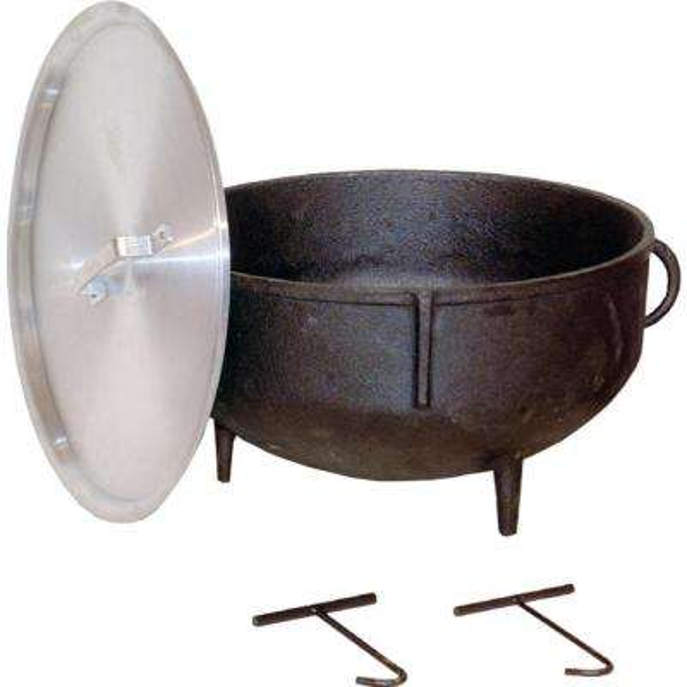 5 gal. Cast Iron Jambalaya Pot with Feet and Aluminum Lid
