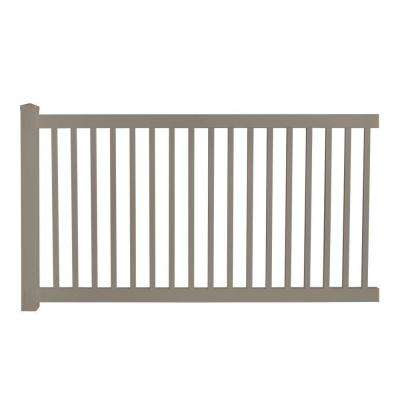 Phoenix 4 ft. H x 8 ft. W Khaki Vinyl Pool Fence Panel EZ Pack