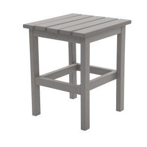 Icon Light Gray Square Plastic Outdoor Side Table