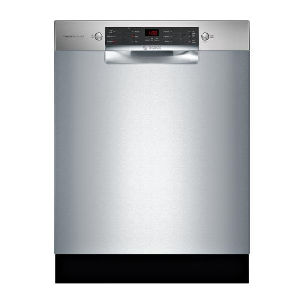 Bosch 800 Series 24 in. ADA Front Control Dishwasher in Stainless Steel with Stainless Steel Tub and 3rd Rack, 44dBA