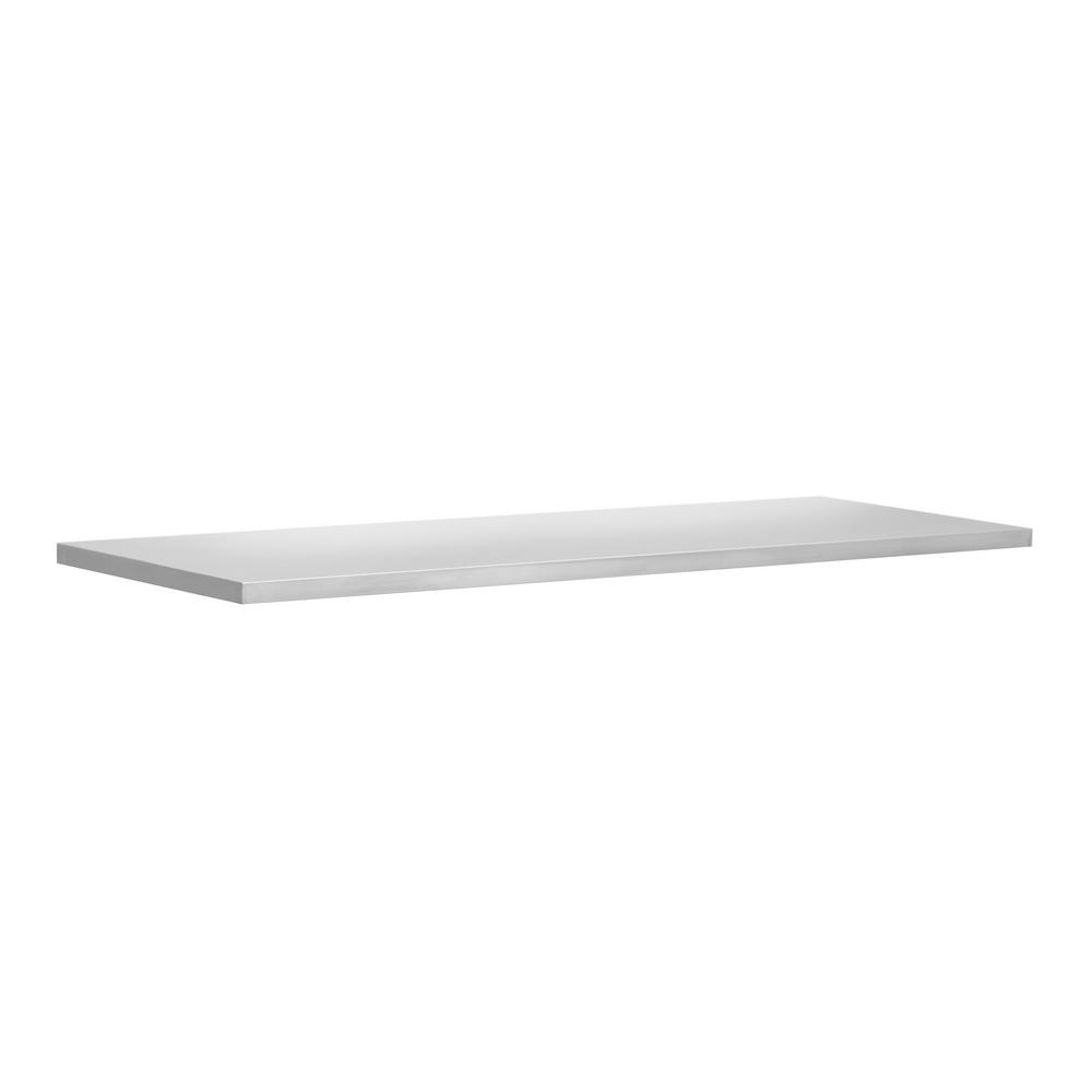 NewAge Products Bold and Performance Series 48 in. W x 1 in. H x 18 in. D Stainless Steel Worktop