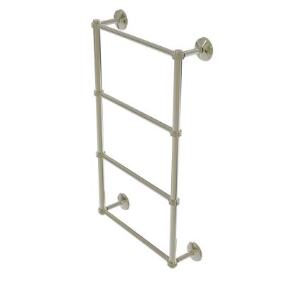 Monte Carlo Collection 4 Tier 24 in. Ladder Towel Bar with Dotted Detail in Polished Nickel