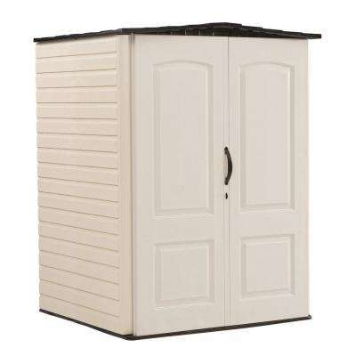 4 ft. 3 in. x 4 ft. 5 in. W Medium Vertical Plastic Shed