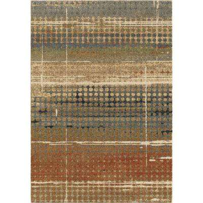 Houston Plush Distressed Beige 5 ft. x 8 ft. Area Rug
