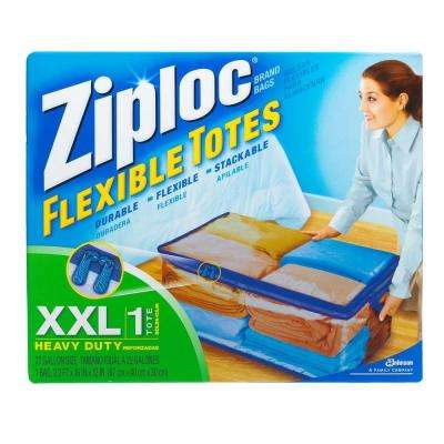 22-Gal. Flexible Heavy Duty Plastic Storage Tote (5-Pack)