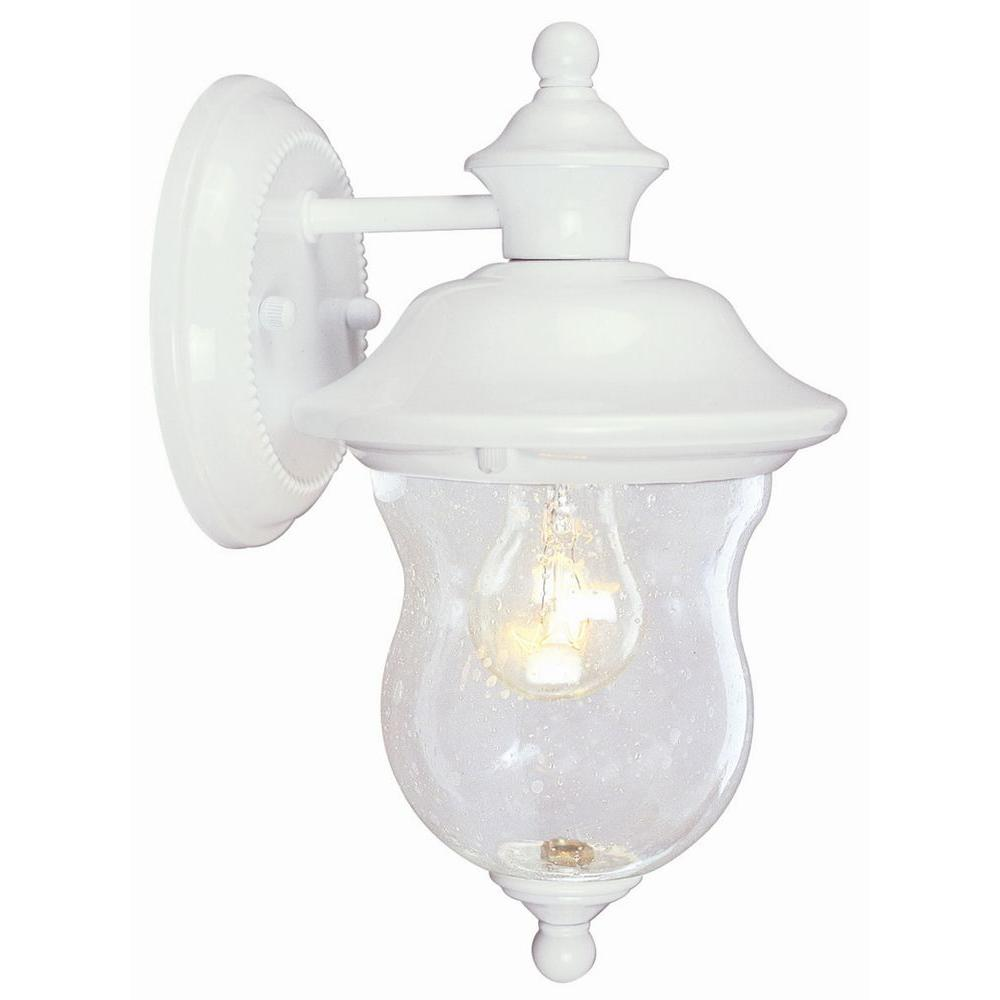 Design House Highland White Outdoor Wall-Mount Downlight