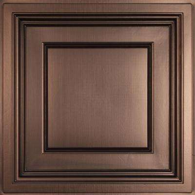 Madison Faux Bronze 2 ft. x 2 ft. Lay-in Coffered Ceiling Panel (Case of 6)