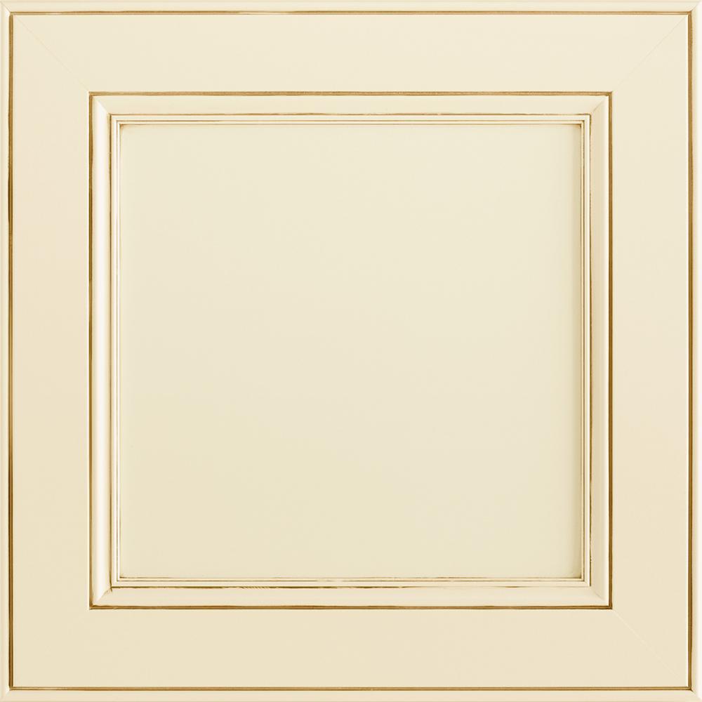 14-9/16 x 14-1/2 in. Cabinet Door Sample in MacArthur Painted Hazelnut Glaze